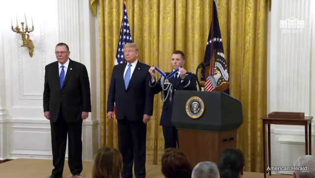 President Trump at the Presentation of the Presidential Medal of Freedom to General Jack Keane